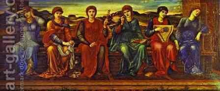 The Hours by Sir Edward Coley Burne-Jones - Reproduction Oil Painting