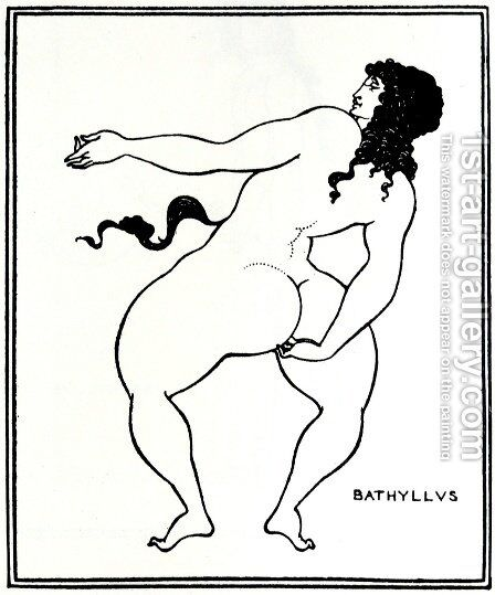 Bathyllus taking the pose by Aubrey Vincent Beardsley - Reproduction Oil Painting