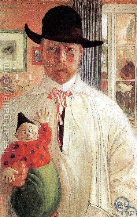 Self-Recognition by Carl Larsson - Reproduction Oil Painting