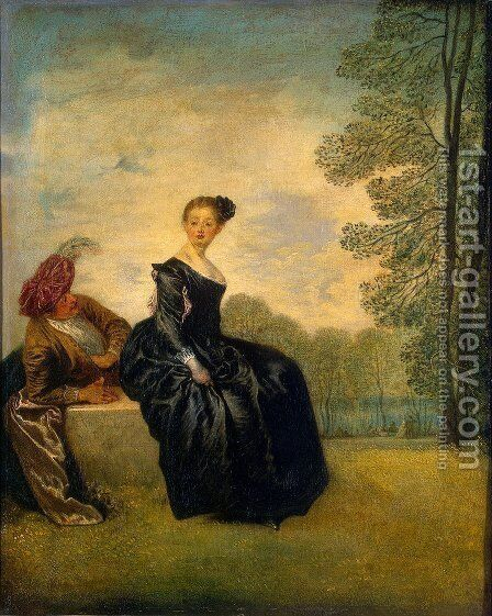 The Capricious Girl by Jean-Antoine Watteau - Reproduction Oil Painting