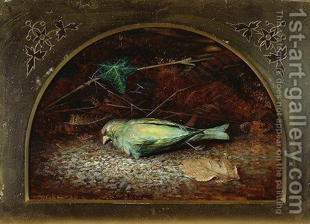 A Dead Linnet by John Atkinson Grimshaw - Reproduction Oil Painting
