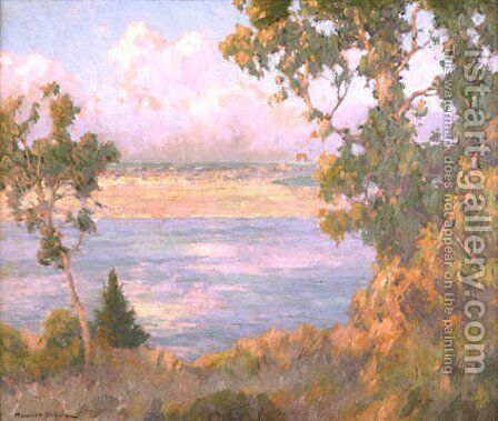 Landscape North Island seen from Point Loma by Maurice Braun - Reproduction Oil Painting