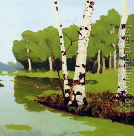 Birches by Arkhip Ivanovich Kuindzhi - Reproduction Oil Painting