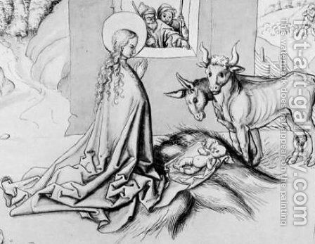Adoration of the Child by Martin Schongauer - Reproduction Oil Painting
