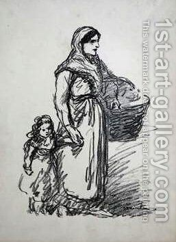 Woman and child by Theophile Alexandre Steinlen - Reproduction Oil Painting