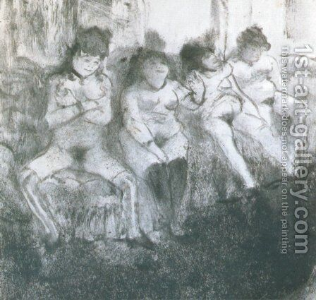 Make an attempt, second version by Edgar Degas - Reproduction Oil Painting