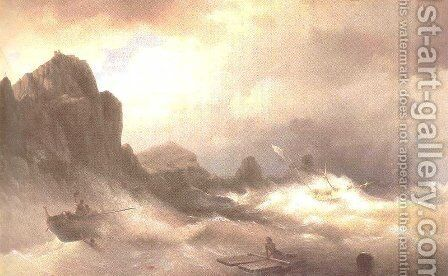 The Shipwreck 12 by Ivan Konstantinovich Aivazovsky - Reproduction Oil Painting