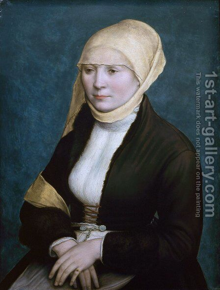 Portrait of a woman from southern Germany by Hans, the Younger Holbein - Reproduction Oil Painting