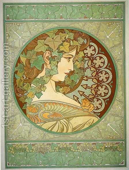 Laurel by Alphonse Maria Mucha - Reproduction Oil Painting
