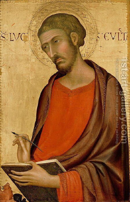 St. Luke by Simone Martini - Reproduction Oil Painting