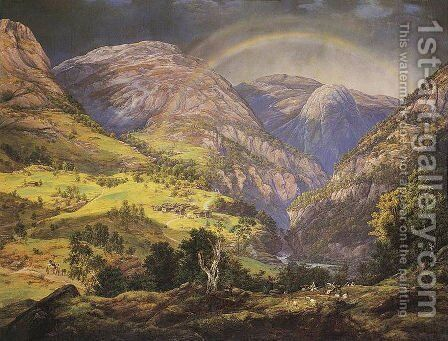 Stalheim by Johan Christian Clausen Dahl - Reproduction Oil Painting