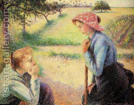 The talk by Camille Pissarro - Reproduction Oil Painting