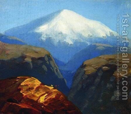 Elbrus in the daytime 2 by Arkhip Ivanovich Kuindzhi - Reproduction Oil Painting