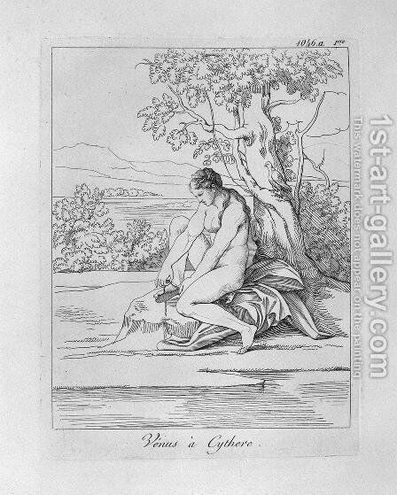 Venus in Kythera by Giovanni Battista Piranesi - Reproduction Oil Painting