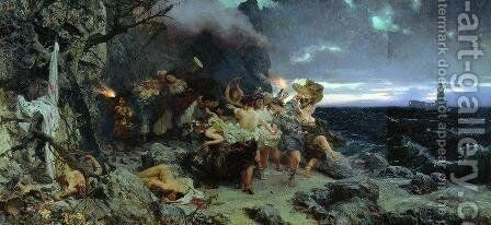 Orgy of the Times of Tiberius on Capri by Henryk Hector Siemiradzki - Reproduction Oil Painting