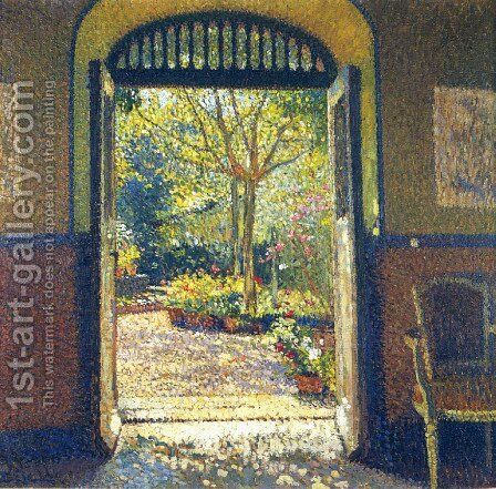 A Garden in the Sunshine by Henri Martin - Reproduction Oil Painting