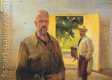 Passing on the Palette by Jacek Malczewski - Reproduction Oil Painting