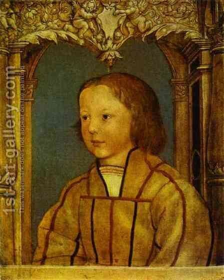 Portrait of a Boy with Blond Hair by Hans, the Younger Holbein - Reproduction Oil Painting