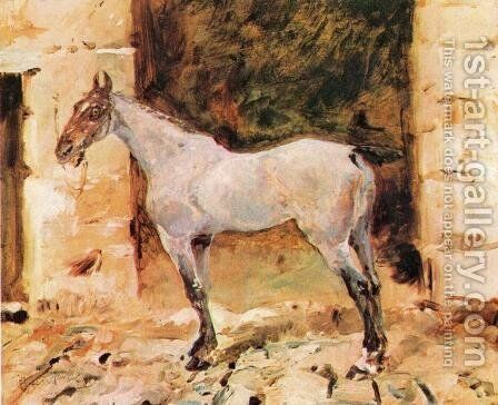 Tethered Horse by Toulouse-Lautrec - Reproduction Oil Painting