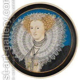 Mary Herbert, Countess of Pembroke by Nicholas Hilliard - Reproduction Oil Painting