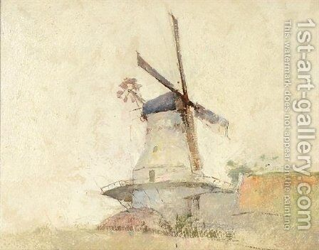 Windmill by Emil Carlsen - Reproduction Oil Painting