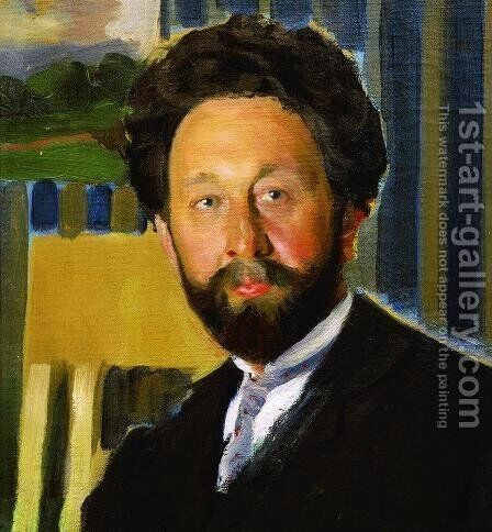 Portrait of Vasily Kastalsky by Boris Kustodiev - Reproduction Oil Painting