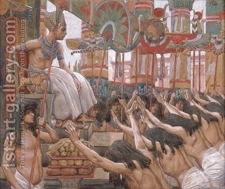 Joseph Dwelleth in Egypt by James Jacques Joseph Tissot - Reproduction Oil Painting