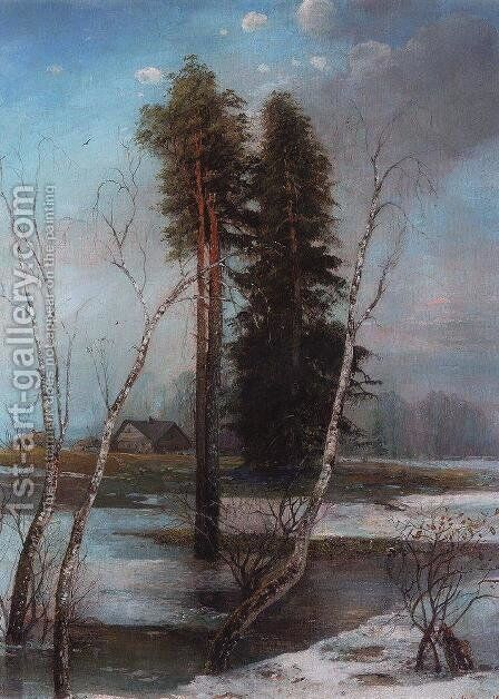 Early Spring 3 by Alexei Kondratyevich Savrasov - Reproduction Oil Painting