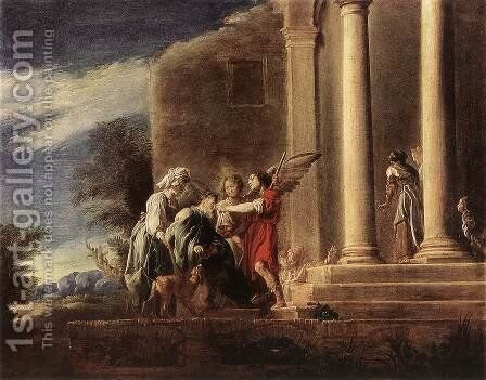 Tobias Healing his Father 1620-23 by Domenico Fetti - Reproduction Oil Painting