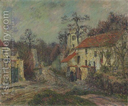 Winter in Chaponival by Gustave Loiseau - Reproduction Oil Painting