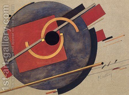 Preliminary sketch for a poster by Eliezer (El) Markowich Lissitzky - Reproduction Oil Painting
