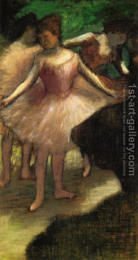 Three Dancers in Pink by Edgar Degas - Reproduction Oil Painting