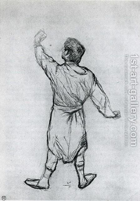 Man in a Shirt, From Behind by Toulouse-Lautrec - Reproduction Oil Painting