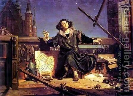 Copernicus in the tower at Frombork by Jan Matejko - Reproduction Oil Painting