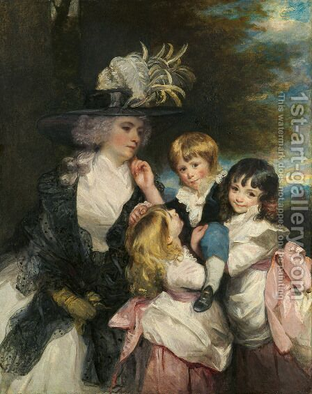 Lady Smith and Children by Sir Joshua Reynolds - Reproduction Oil Painting