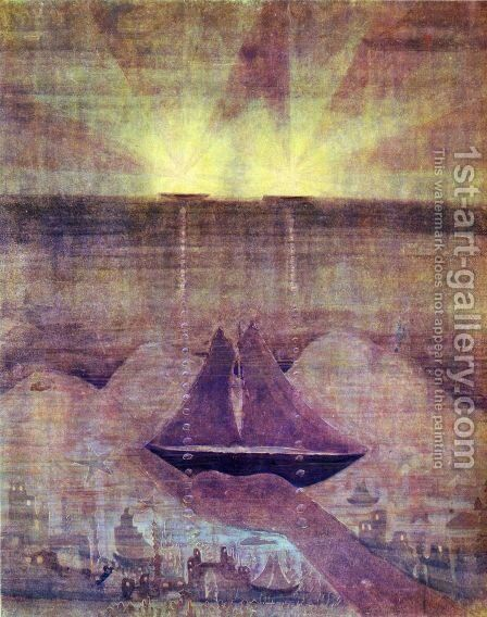 Andante (Sonata of the Sea) by Mikolajus Ciurlionis - Reproduction Oil Painting