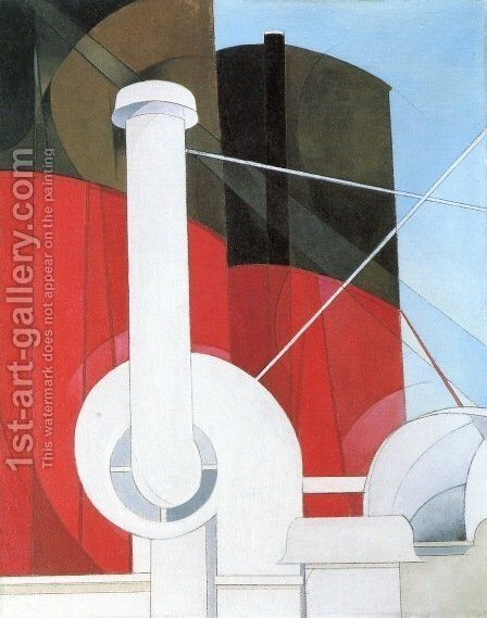 Paauebot 'Paris by Charles Demuth - Reproduction Oil Painting