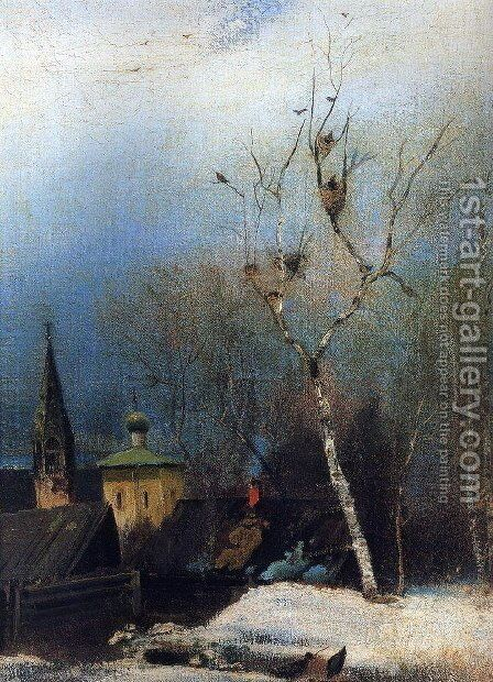 Early Spring 7 by Alexei Kondratyevich Savrasov - Reproduction Oil Painting