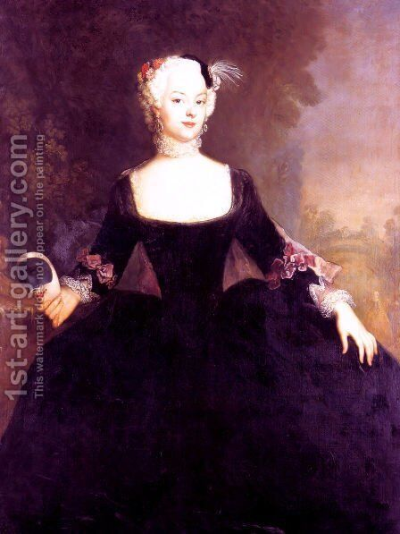 Gentlewoman by Antoine Pesne - Reproduction Oil Painting