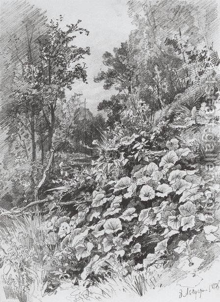 Coltsfoot 2 by Ivan Shishkin - Reproduction Oil Painting
