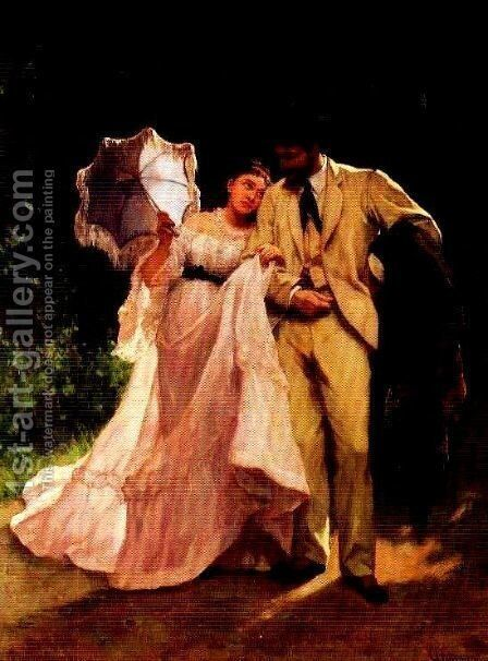 Honeymoon by Charles Hermans - Reproduction Oil Painting