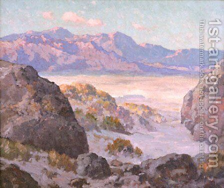 Desert and Mountains by Maurice Braun - Reproduction Oil Painting