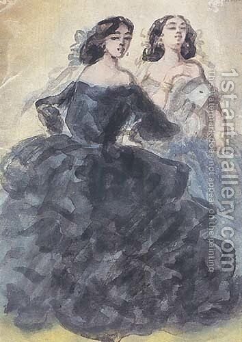 Demi-mondaines by Constantin Guys - Reproduction Oil Painting
