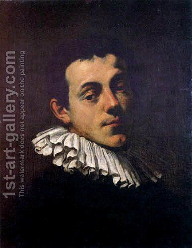 Portrait of Joseph Heintz by Hans Von Aachen - Reproduction Oil Painting