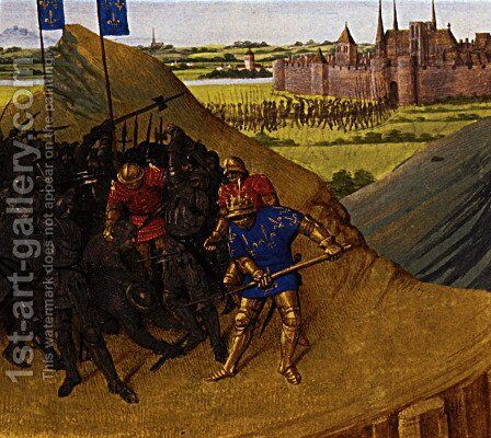 Victory of Henry I on his brother Robert by Jean Fouquet - Reproduction Oil Painting