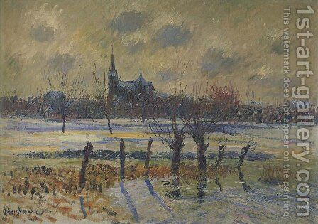 Flood at Nantes by Gustave Loiseau - Reproduction Oil Painting