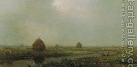 Jersey Marshes 2 by Martin Johnson Heade - Reproduction Oil Painting