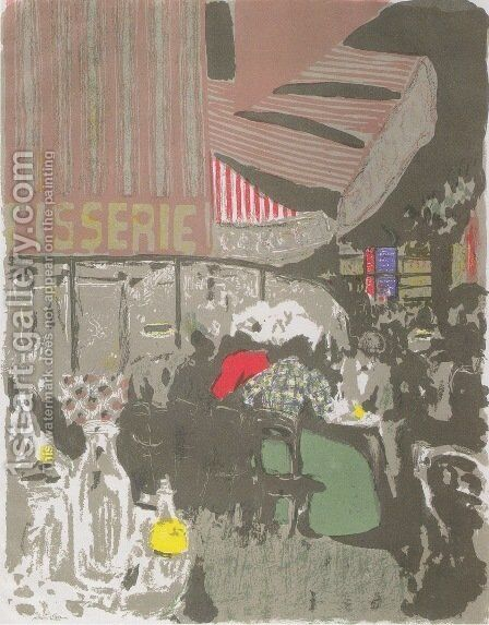 The Cake Shop by Edouard  (Jean-Edouard) Vuillard - Reproduction Oil Painting