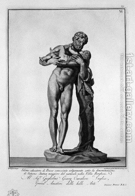 Silenus with Bacchus by Giovanni Battista Piranesi - Reproduction Oil Painting