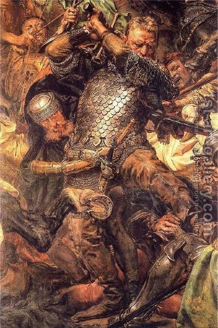 Battle of Grunwald, Jan Zizka (detail) by Jan Matejko - Reproduction Oil Painting